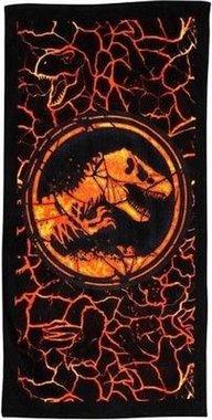 Jurassic World handdoek - Zwart/Oranje