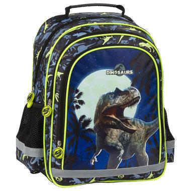 Dinosaurus rugtas GROOT - Blauw (38x28x18cm)