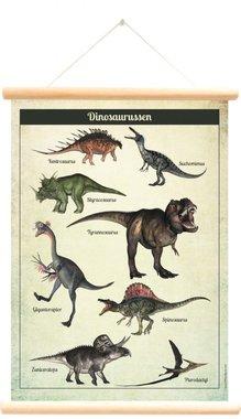 Schoolplaat Dinosaurussen (50 x 70 cm) - Little & Pure