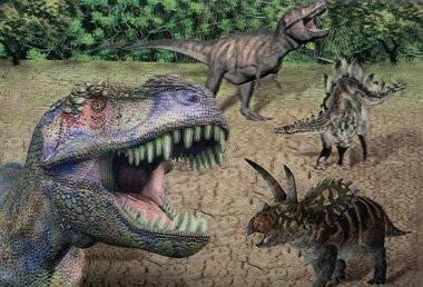 3D lenticulaire T-rex kaart