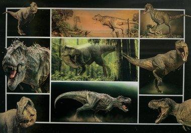 3D lenticulaire kaart - verschillende dinosaurussen