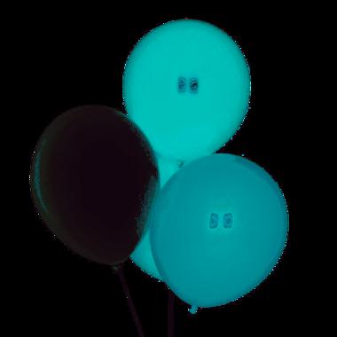 Ballonnen 10x (turquoise, aqua, wit)