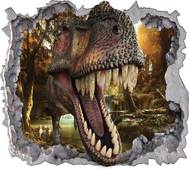 T-rex 3D Posterbehang (368x254cm)