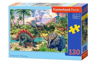 120 stukjes Dinosaurus Vulkanen puzzel