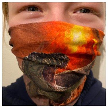 Dinosaurus gezichtsmasker - neksjaal