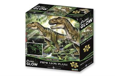100 stukjes Dinosaurus Prime Glow Puzzel