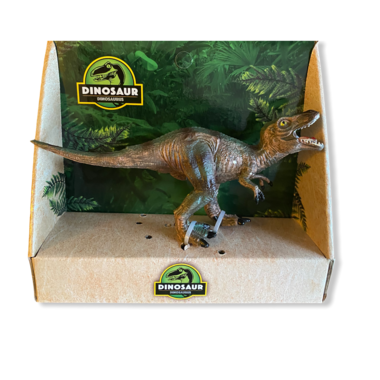 Speeldino T-rex (bruin/groen)