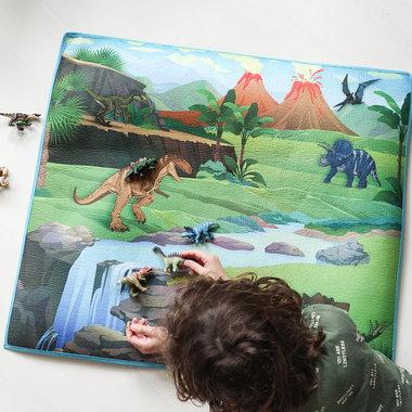 Dinosaurus speelmat met speeldino's ( 78 x 71 cm)