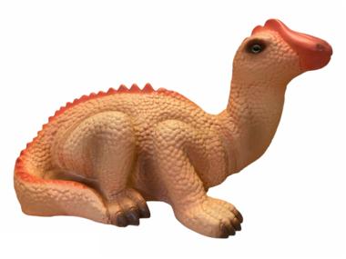 Dinosaurus lamp (zalm/roze/abrikoos) liggend