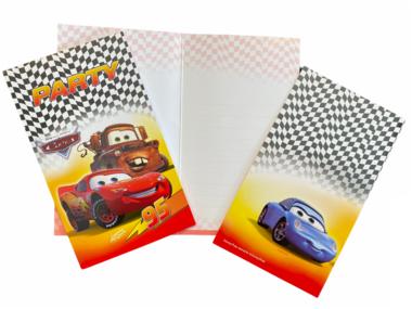 Uitnodigingen Cars 6x - Disney