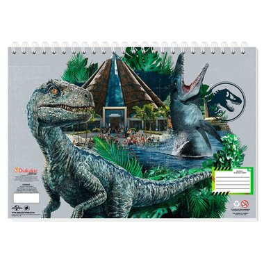 Jurassic World Schetsboek - grijs