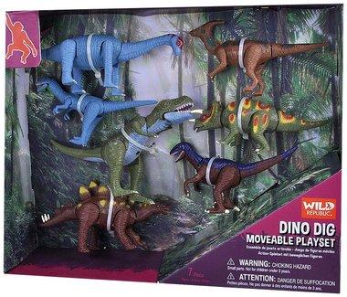 Dinosaurus speelset - beweegbare dino's
