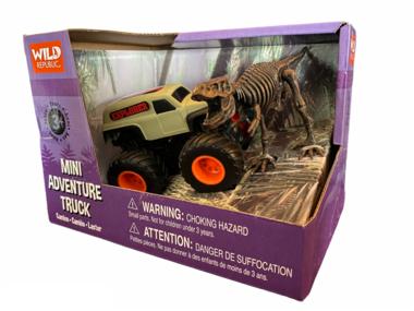 Dinosaurus speelset - mini truck incl. t-rex skelet