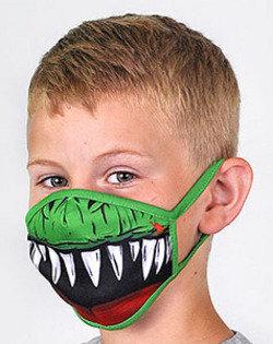 T-rex masker (mondkapje)