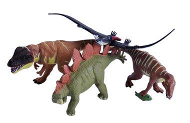 Speeldino's - 4 Dinosaurussen in een zak (wild)