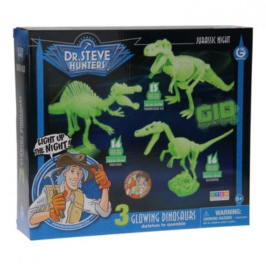 Bouwpakket Glow in the Dark dinosaurussen (Geoworld)