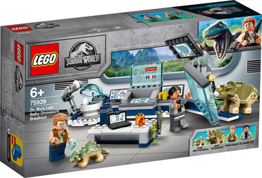 LEGO:  Jurassic World Dr Wu's laboratorium: Ontsnapping van de Babydinosaurus (75939)