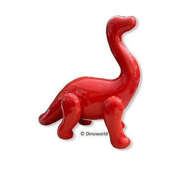 Dinosaurus Spaarpot Brontosaurus (Rood)