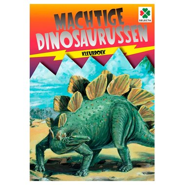Kleurboek: Machtige dinosaurussen