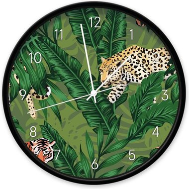 Jungle - Panter wandklok (30 cm)