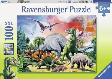 100 stukjes XXL Tussen de dino's Ravensburger - puzzel