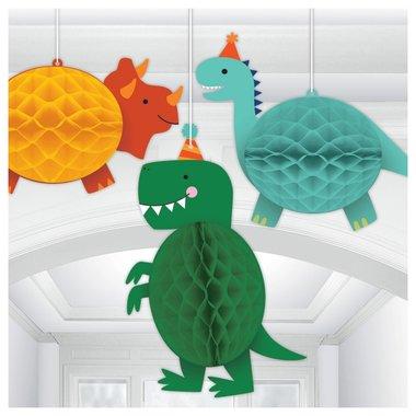 Dinosaurus Lampionnen (3 stuks)