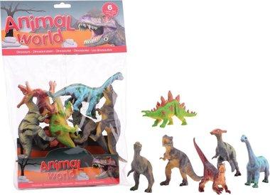 6 Dinosaurussen in een zak (Animal world)