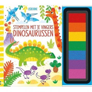 Stempelen met je vingers - Dinosaurussen