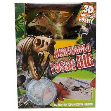 Dig it out: Pteranodon skelet (blok) met extra speeldino (Dinoworld)