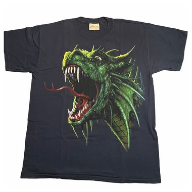 Laatste: T-shirt Draak Draco Rex - (volwassen maat) - Maat M
