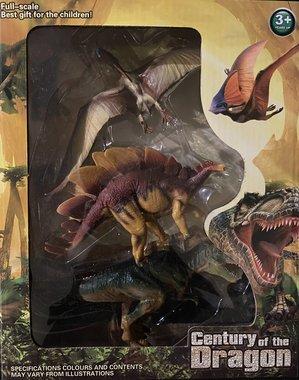 Speelset: 3 dinosaurussen in kadobox
