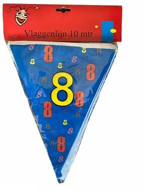Vlaggenlijn 8 jaar (10 meter)