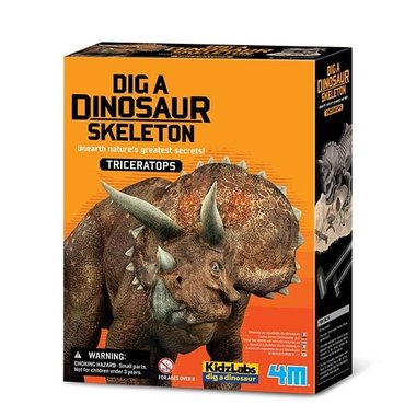 Dinoskelet Triceratops uitgraven