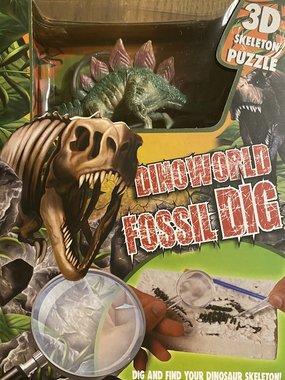 Dig it out: Stegosaurus skelet (blok) met extra speeldino (Dinoworld)