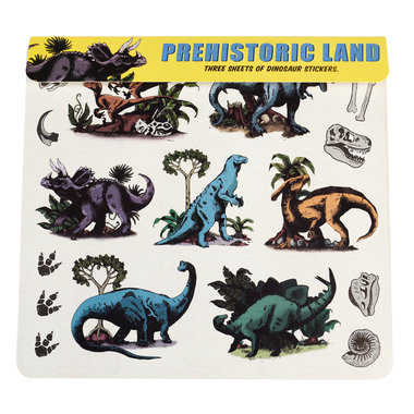 Stickervel REX - Prehistoric Land (3 vellen)