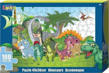 100 stukjes Vrolijke dino's puzzel