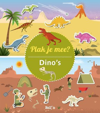 Stickerboek: Plak je mee? Dino's