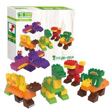 BiOBUDDi: Dinosaurus bouwset - Groot pakket (79dlg)