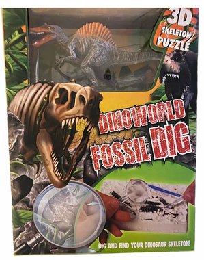Dig it out: Spinosaurus skelet (blok) met extra speeldino (Dinoworld)