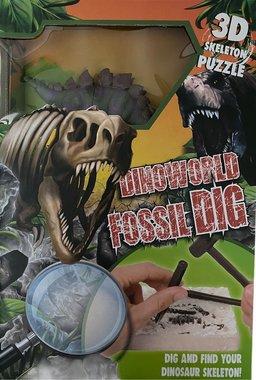 Dig it out:  (Groot pakket) Stegosaurus skelet (blok) met extra speeldino (Dinoworld)