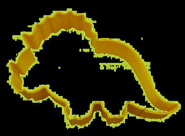 Koekjes uitsteekvorm Triceratops (geel)