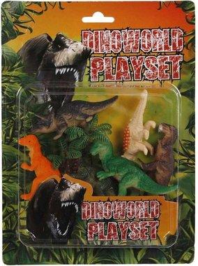 Dinoworld Playset - 6 dinosaurussen incl. boom