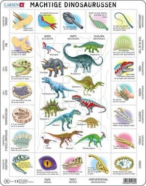 35 stukjes Machtige Dinosaurussen (Larsen)