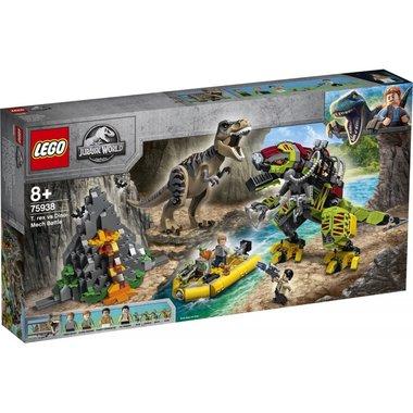 (Uitverkocht) LEGO: JURASSIC WORLD - T. REX VS. DINOMECHA GEVECHT (75938)