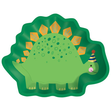 Bordjes Stegosaurus (8x) (Dino Roar party)