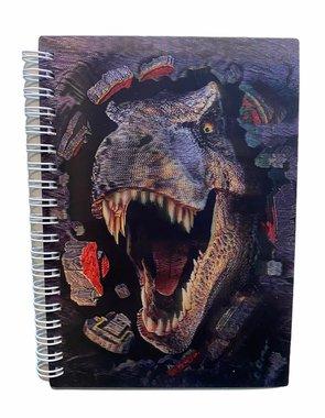 3D Notitieboekje/schrijfboekje - T-rex