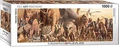 1000 stukjes Dinosaurus Panorama Puzzel