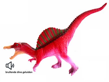 Speeldino Spinosaurus (met geluid) - rood - 46 cm