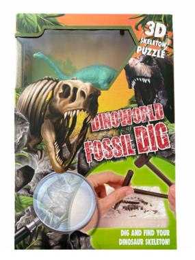 Dig it out:  (Groot pakket) Brontosaurus skelet (blok) met extra speeldino (Dinoworld)