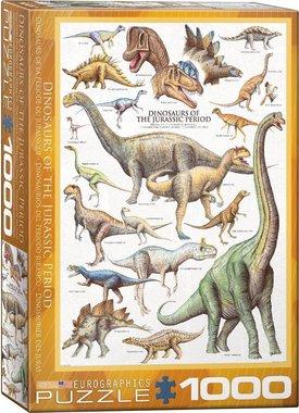 1000 stukjes - Dinosaurs of the Jurassic Period